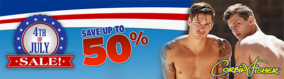 4th of July SALE at CorbinFisher.com