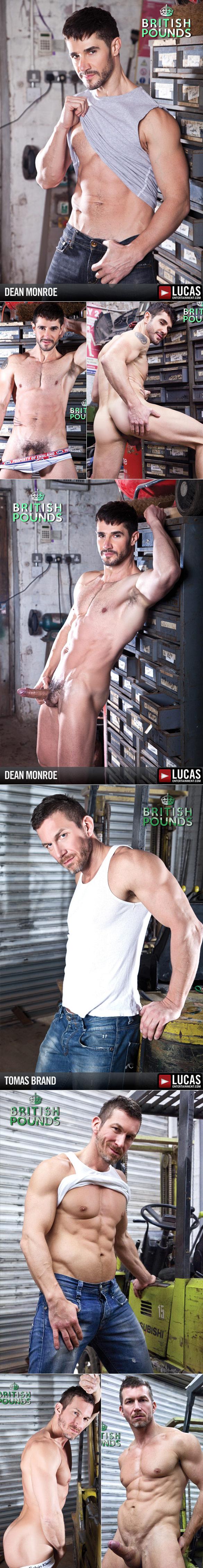 "LucasEntertainment: Dean Monroe bottoms for Tomas Brand in ""British Pounds"""