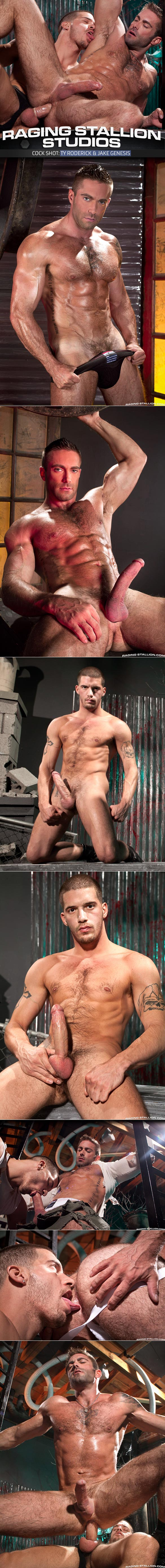 "RagingStallion: Ty Roderick and Jake Genesis hot flip-fuck in ""Cock Shot"""