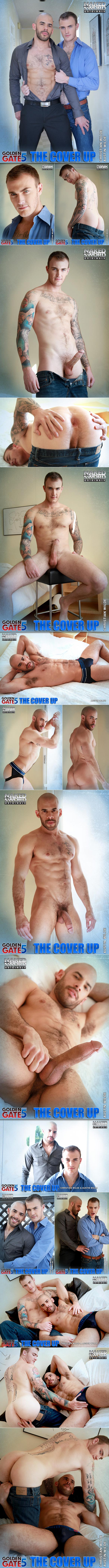"""NakedSword Originals: Chrstian Wilde bottoms for the first time in """"Golden Gate Season 5 - The Cover Up"""" (Episode 4)"""