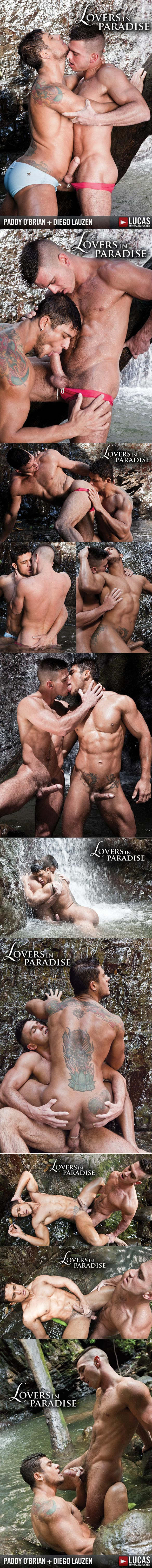 """Lucas Entertainment: Paddy O'Brian pounds Diego Lauzen in """"Lovers in Paradise"""""""